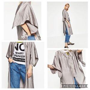 Zara Satin Effect Jacket Sz. M
